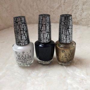 OPI nail polish 3 piece shatter set